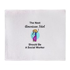 Social Worker Idol Throw Blanket