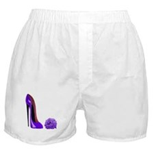 Lilac Stiletto Shoe and Rose Boxer Shorts