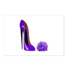 Lilac Stiletto Shoe and Rose Postcards (Package of