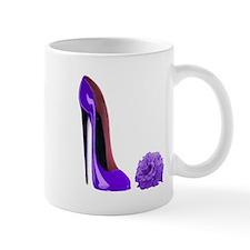 Lilac Stiletto Shoe and Rose Mug