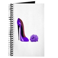 Lilac Stiletto Shoe and Rose Journal