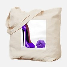 Lilac Stiletto Shoe and Rose Tote Bag