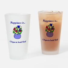 Social Work Degree Pint Glass