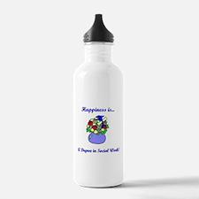 Social Work Degree Water Bottle
