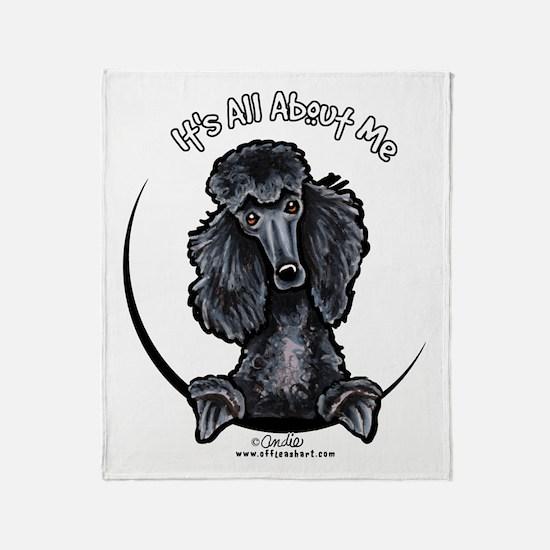 Black Standard Poodle IAAM Throw Blanket