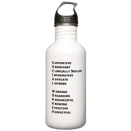 What is a Social Worker? Stainless Water Bottle 1.