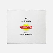 Social Work Appreciation Throw Blanket