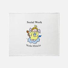 Social Work Miracle Workers Throw Blanket