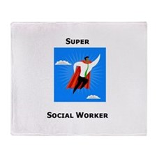 Super Social Worker Throw Blanket