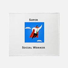 Super Social Worker Throw Blanket