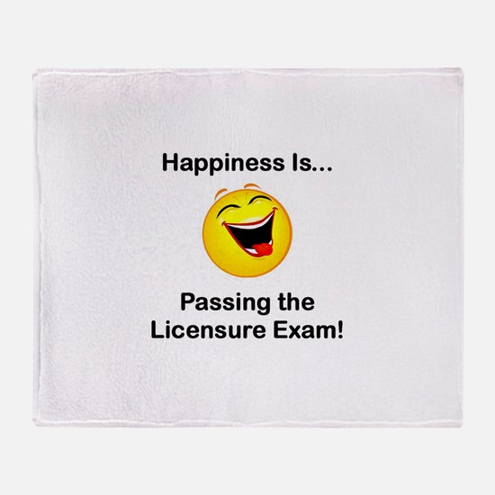 Happiness is Licensure Throw Blanket