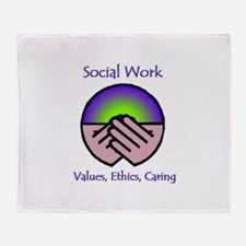 Values, Ethics, Caring Throw Blanket