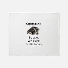 Christian Social Worker Throw Blanket