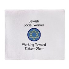 Jewish Social Worker Throw Blanket
