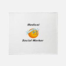 Medical Social Worker Throw Blanket