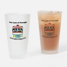 Lack of Foresight Pint Glass