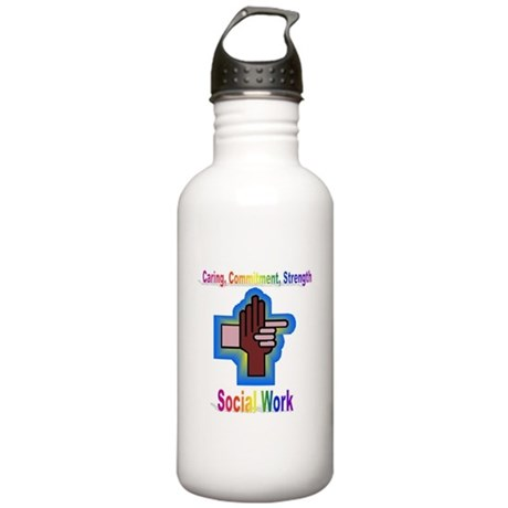 Caring, Commitment, Strength Stainless Water Bottl