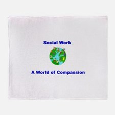 World of Compassion Throw Blanket