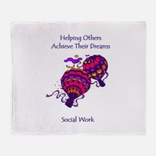 Helping Others Throw Blanket