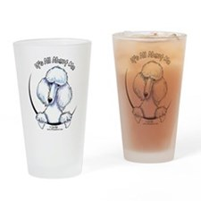 White Standard Poodle IAAM Drinking Glass