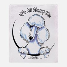White Standard Poodle IAAM Throw Blanket