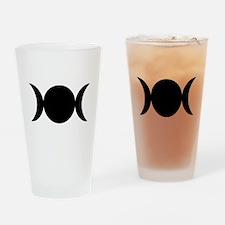 Tripple Moon Goddess Drinking Glass