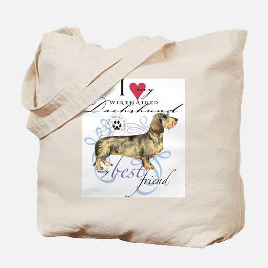 Wirehaired Dachshund Tote Bag