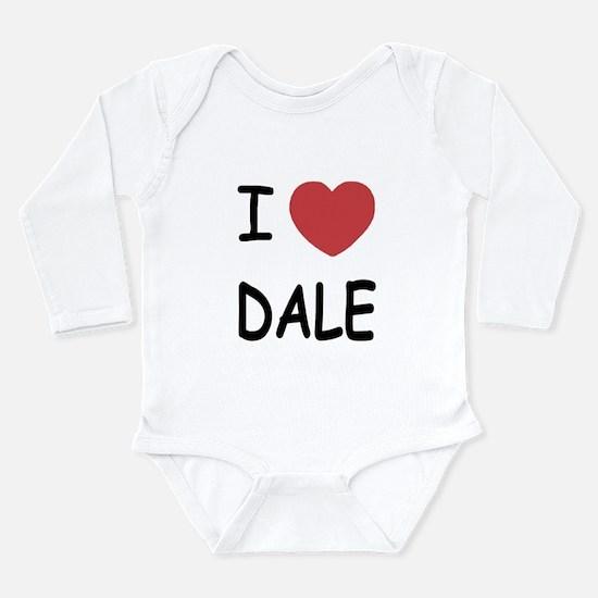 I heart dale Long Sleeve Infant Bodysuit