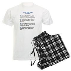 Social Work Etiquette Pajamas
