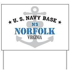 US Navy Norfolk Base Yard Sign