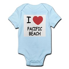 I heart pacific beach Infant Bodysuit