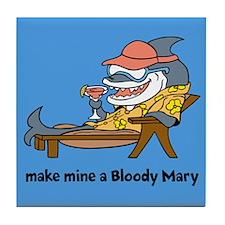 Bloody Mary Shark Tile Coaster