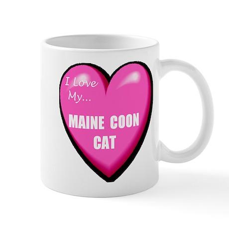 I Love My Maine Coon Cat Mug