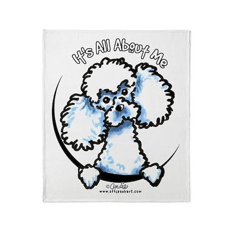 White Poodle IAAM Throw Blanket