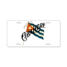 Cuba Libre Cuban Flag Aluminum License Plate