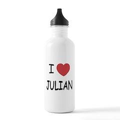 I heart julian Water Bottle