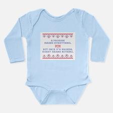 A PROMISE Long Sleeve Infant Bodysuit
