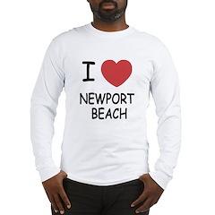 I heart newport beach Long Sleeve T-Shirt