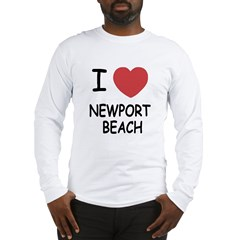I heart newport beach Long Sleeve T-Shirt
