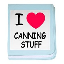 I heart canning stuff baby blanket
