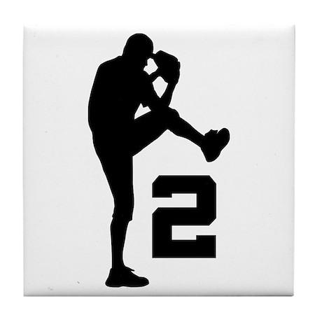 Baseball Pitcher Number 2 Tile Coaster