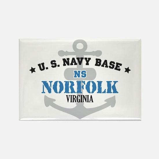 US Navy Norfolk Base Rectangle Magnet
