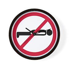 No Planking Wall Clock
