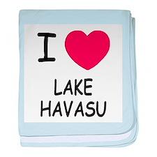 I heart lake havasu baby blanket