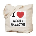 I heart woolly mammoths Tote Bag