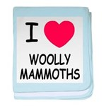 I heart woolly mammoths baby blanket