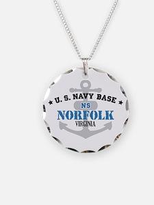 US Navy Norfolk Base Necklace