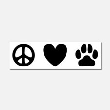 Peace Love Dogs [st b/w] Car Magnet 10 x 3