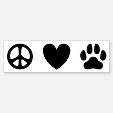 Peace Love Dogs [st b/w] Bumper Bumper Sticker