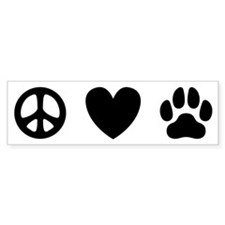Peace Love Dogs [st b/w] Bumper Sticker